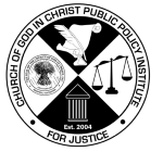 Michigan/Canada Council of Bishops Church of God in Christ Public Policy Institute for Justice Logo