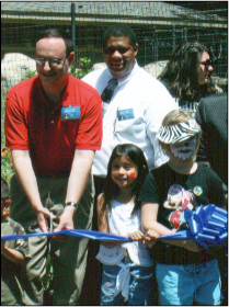 Vic with Fellow Commissioners - Vic with fellow commissioners and city officials at the Potter Park Zoo ribbon cutting ceremony - July 1, 2007.
